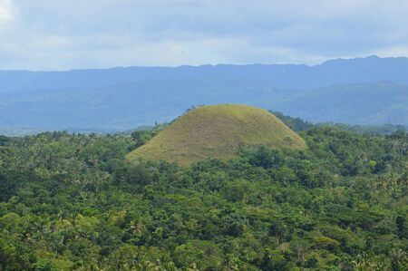 Chocolate hill in Bohol island, the Philippines Stock Photo