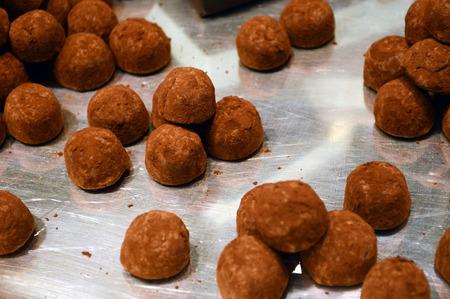 ganache: Ganache, fresh cream chocolate Stock Photo
