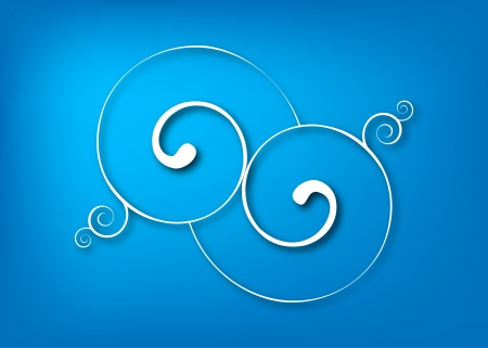 Blue swirls Stock Vector - 18303579