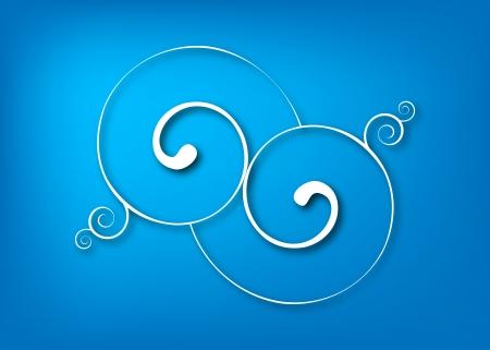 Blue swirls Stock Vector - 18303579