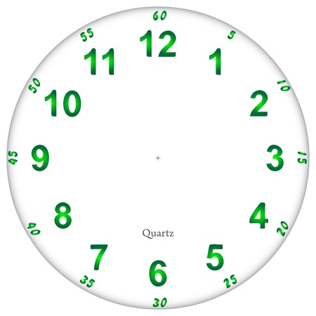 Fluorescent clock face pattern, easy to resize Illustration