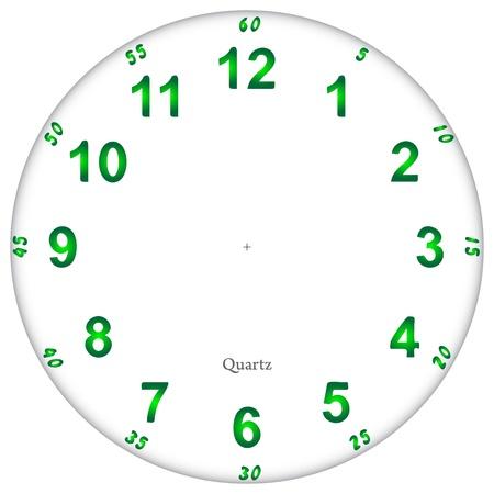 orologio da parete: Fluorescente modello quadrante dell'orologio, facile da ridimensionare Vettoriali