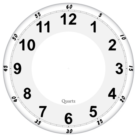 duration: Clock face Illustration