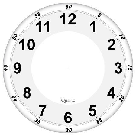 orologio da parete: Orologio faccia Vettoriali