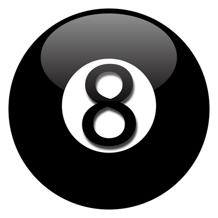 cue ball: Black eight ball Illustration