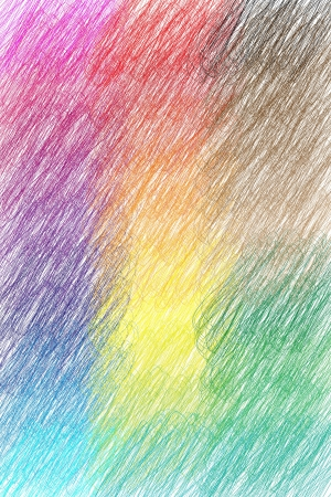 Hashed, colored background with crayon Stock Photo