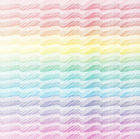 Wavy background hashed with crayon Illustration