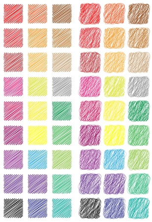 Hashed square web buttons set Illustration