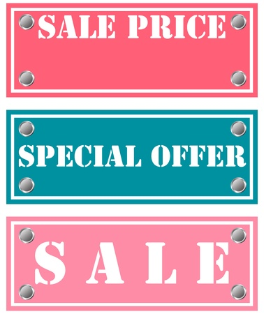 special offer and sale stickers Illustration
