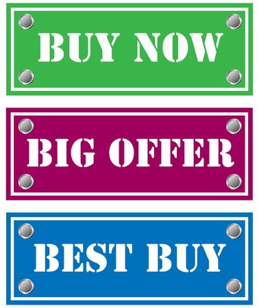 Buy now, big offer and best buy cardboard for shops Stock Photo