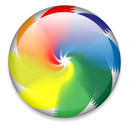 Spinning candy, wheel Vector