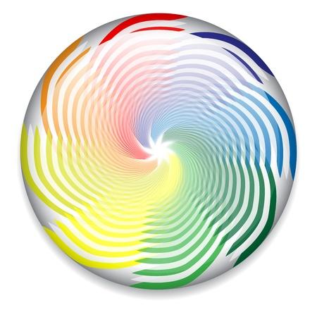 Spinning wheel, candy, logo Illustration