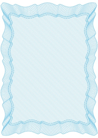 Frame for secured documents Vector