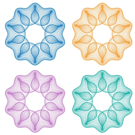 Guilloche flower Illustration