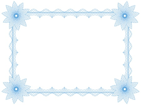Frame with flowers, border, size A4, thickness of the lines can be changed easily Illustration