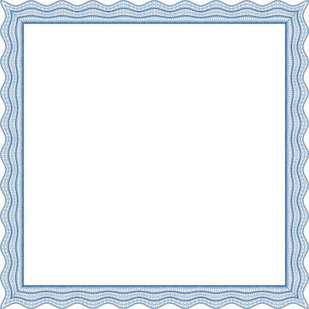 Square frame, certificate, thickness of lines can be changed easily Illustration