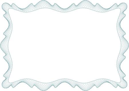 Guilloche frame, border for picture or invitation Stock Photo