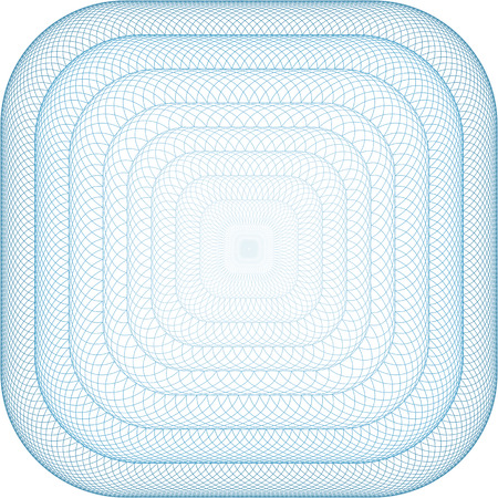 Square frame or button with rounded corners