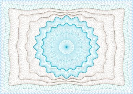 Frame with rosette centered Illustration