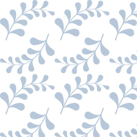 Seamless pattern with light blue branches. Pattern is  saved in swatch panel. Vector. 向量圖像