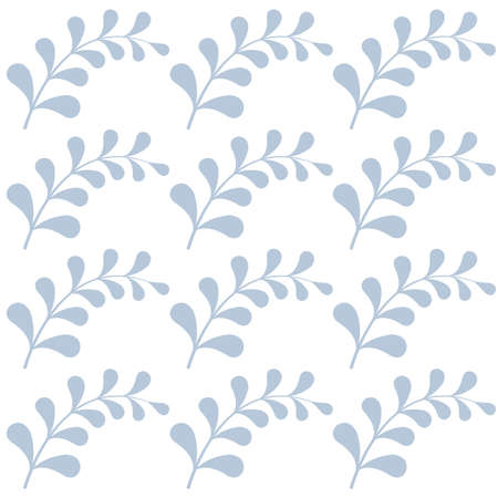Seamless pattern with light blue branches. Pattern is saved in swatch panel. Vector .