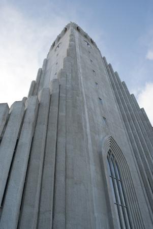 view from the base of Hallgrimskirkja in Reykjavik