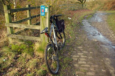 Bike on a national cycle route in England