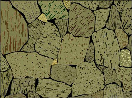 Stone wall Illustration