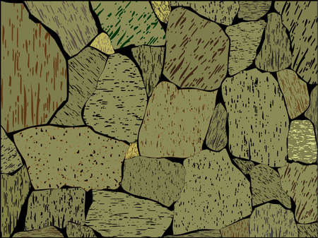 Stone wall Illustration