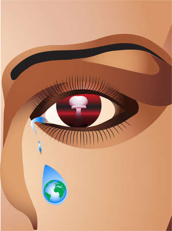 weeping: Face Illustration