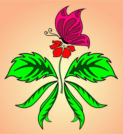 Butterfly, Flower Vector
