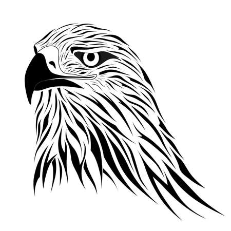 art: Hawk, eagle, tattoo
