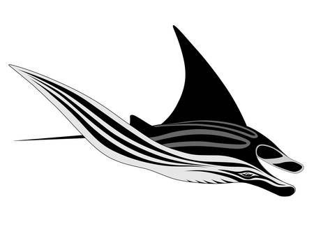 blue ray: Manta Ray, tattoo