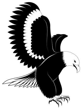 Abstract eagle in the form of a tattoo Vector