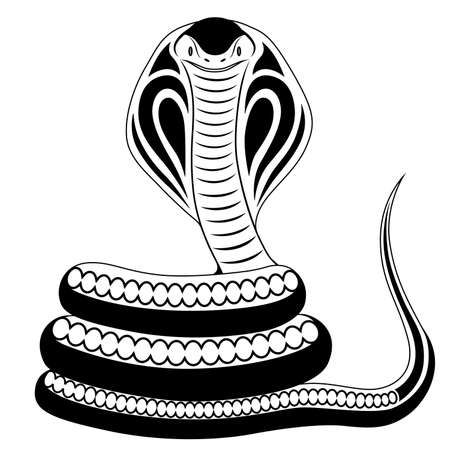 Abstract Cobra in the form of a tattoo Illustration