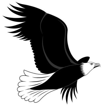 adler silhouette: Abstrakt Eagle in Form einer Tätowierung Illustration