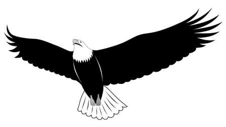 Abstract eagle in the form of a tattoo Illustration