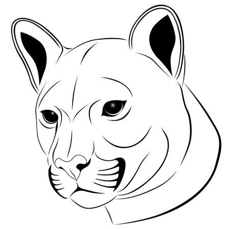 Cougar, tattoo Vector