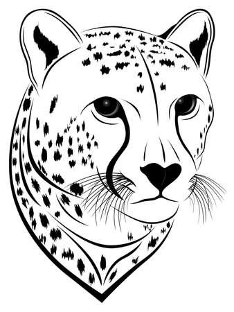 panthera: Unit� disco Cheetah sotto forma di un tatuaggio