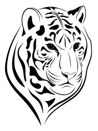 Tiger in the form of a tattoo Stock Vector - 7163044