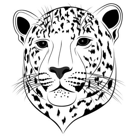 leopard executed in the form of a tattoo Vector