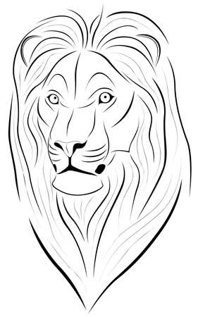 Abstract Lion in the form of a tattoo Stock Vector - 7462714