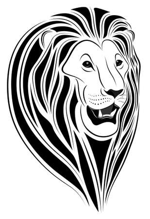 Lion in the form of a tattoo Stock Vector - 7785470