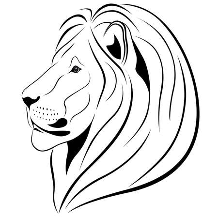 Lion in the form of a tattoo Stock Vector - 7785466