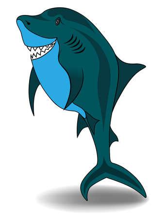 Shark vector illustration isolated on white background