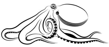monstrous: polpo rappresentato sotto forma di un tatuaggio.