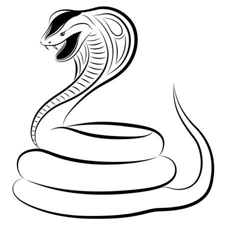 Cobra in the form of a tattoo Vector