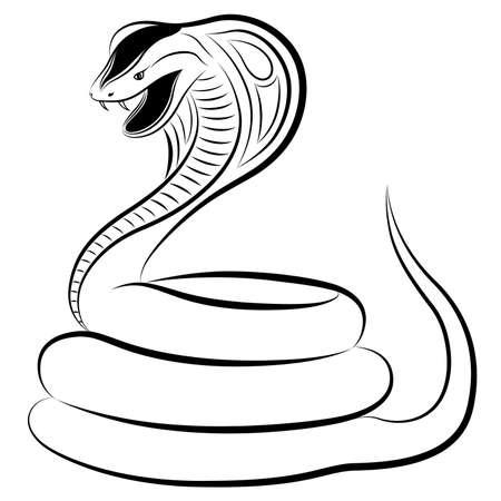 cobra: Cobra sotto forma di un tatuaggio Vettoriali