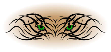 Eyes, tribal tattoo Vector