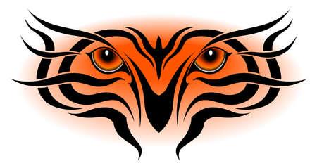 Tiger eyes, tribal tattoo Vector
